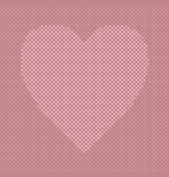 pink heart shaped background from hearts vector image