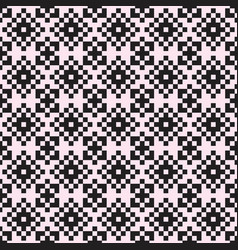 pixel ornament seamless pattern vector image