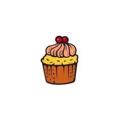 pop art style cake sticker vector image