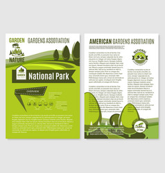 Posters for landscape gardening company vector