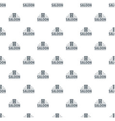 saloon pattern seamless vector image