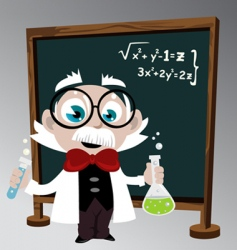 Science professor vector