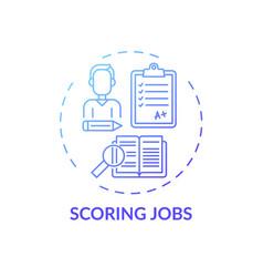scoring jobs concept icon vector image