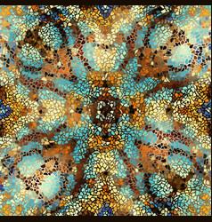 Seamless mosaic art pattern vector