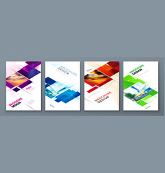 Set brochure cover template layout design vector