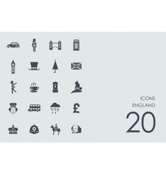 Set of England icons vector image