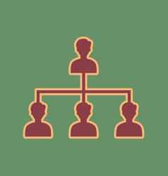 Social media marketing sign cordovan icon vector