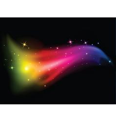 Stars and rainbow colours vector