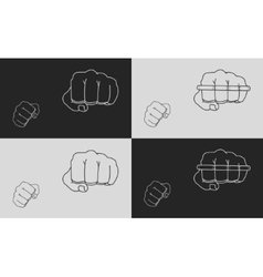 Striking fists vector