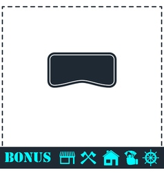 Swim mask icon flat vector image