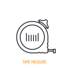 tape measure or ruler outline icon vector image