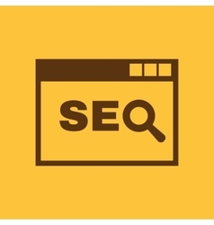 The SEO icon WWW and browser development search vector image