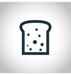 Toast black flat icon vector image