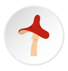 Toxic mushroom icon circle vector