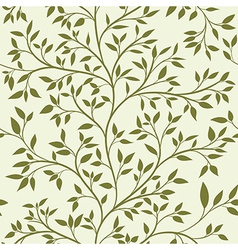 tree seamless pattern vector image