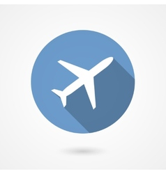 Trendy airplane icon vector image