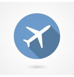 trendy airplane icon vector image