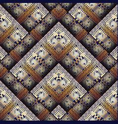 Tribal geometric seamless pattern ethnic zigzag vector