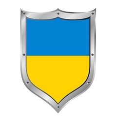 Ukraine flag button vector image