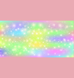 unicorn rectangle background with rainbow mesh vector image