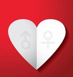 valentines day men women sign vector image vector image