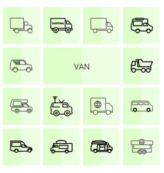 van icons vector image