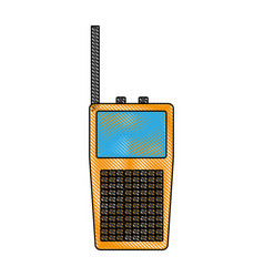 walkie talkie icon vector image