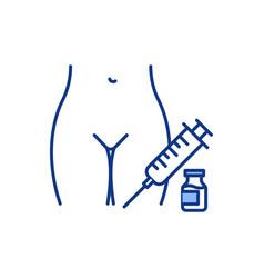Women reproductive health treatment rgb color icon vector