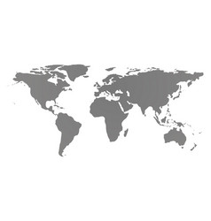 world map covering the globe isolated on white vector image