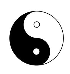 ying yang icon on white background flat style vector image