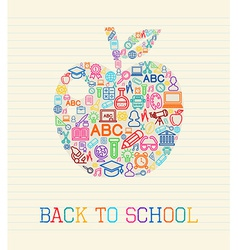 Back to School apple concept vector image vector image