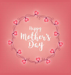 background with badge and greeting happy mother s vector image