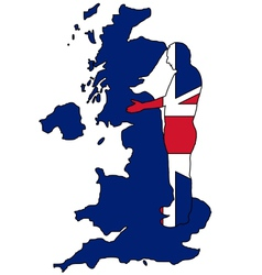 British handshake vector image vector image