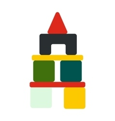 Children blocks icon vector image