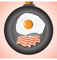 Eggs and bacon vector