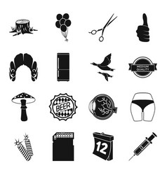 medicine hairdresser kitchen and other web icon vector image vector image