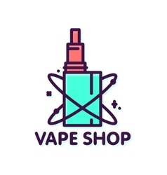 Vape shop graphic style isolated logo vector
