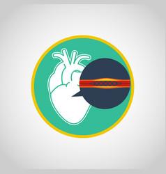 cardiac catheterization logo icon design vector image vector image