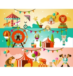 Circus performance background vector image