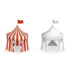 Round circus tent Festival with entrance vector image vector image