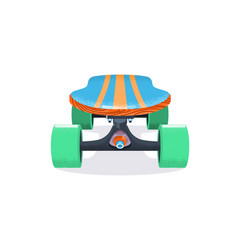 skateboard deck flat hand vector image vector image