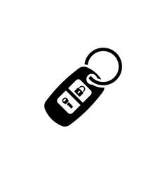Car keychain flat icon vector