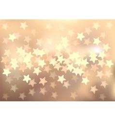Pastel festive lights in star shape background vector image vector image