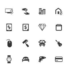 pawnshop icons set vector image