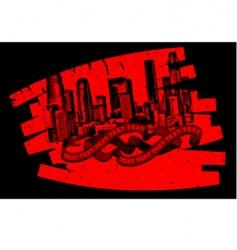 red black grunge graffiti banner vector image vector image