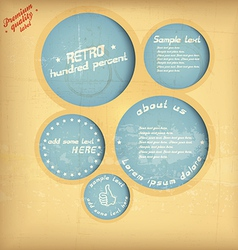 retro speech circle vector image vector image