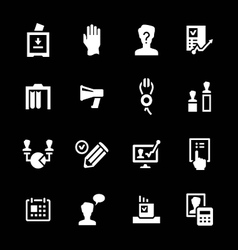Set icons of elections vector image