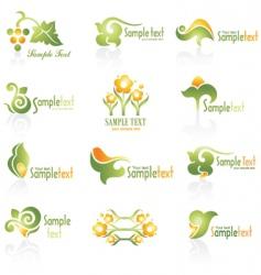 set of logo vector image
