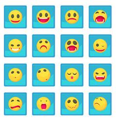 smile icon blue app vector image