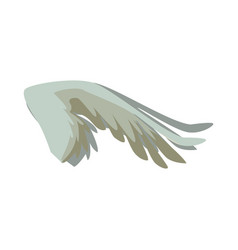 spread out bird or angel wing feathers icon vector image
